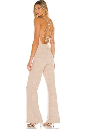 Lovers + Friends Selita Jumpsuit in Tan.