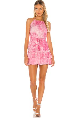 MAJORELLE Baker Mini Dress in Pink.