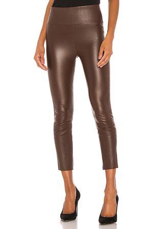 SPRWMN High Waist 3/4 Leather Legging in .