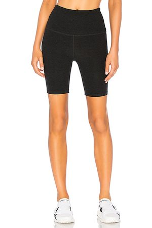 Beyond Yoga High Waisted Biker Short in Black.
