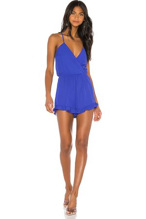 superdown Kehlani Romper in Blue.
