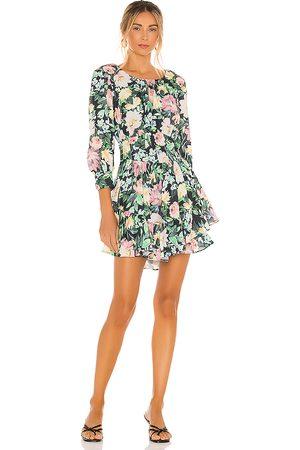 For Love & Lemons Shiloh Mini Dress in Black,Green.