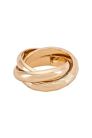 Ettika Layered Ring in Metallic .