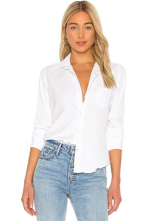FRANK & EILEEN Barry Long Sleeve Button Down Top in White.