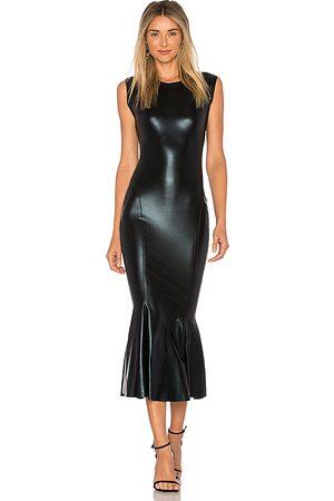 Norma Kamali Sleeveless Midi Dress in Black.