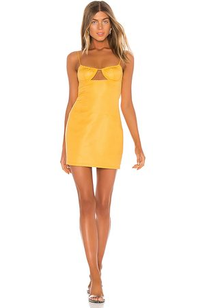 h:ours Aymara Mini Dress in Yellow.
