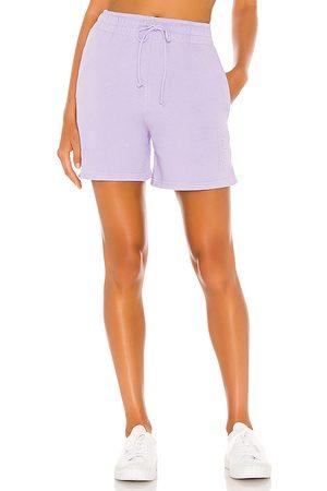Frankies Bikinis Women Tracksuits - Burl Sweat Short in Purple.