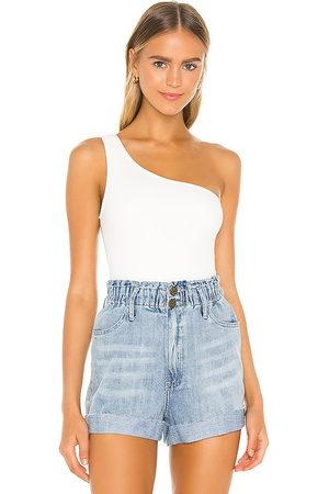 Show Me Your Mumu Uno Bodysuit in White.