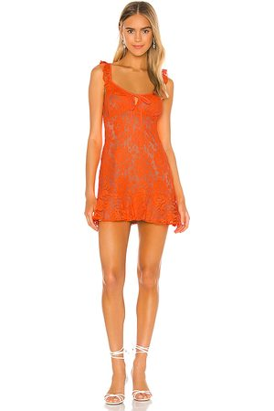 MAJORELLE Women Bodycon Dresses - Sunbeams Dress in Orange.