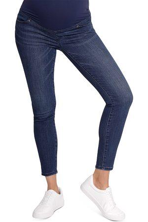 Ingrid & Isabel Women Skinny - Maternity Crossover Panel Skinny Jeans in Indigo