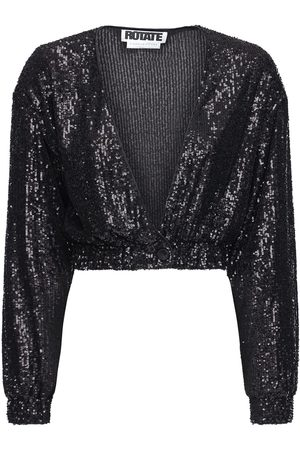 ROTATE Women Crop Tops - Judy Sequined Crop Jacket