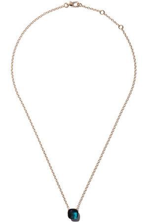 Pomellato 18kt rose & white gold Nudo topaz pendant necklace