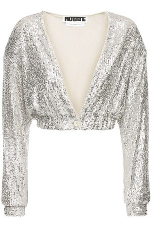 ROTATE Judy Sequined Crop Jacket