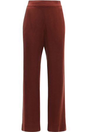 ASCENO The London Silk Satin Pajama Bottoms