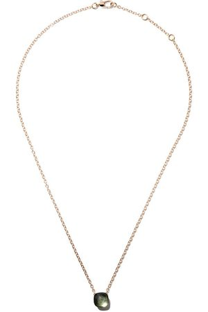 Pomellato Women Necklaces - 18kt rose & white gold Nudo prasiolite pendant necklace