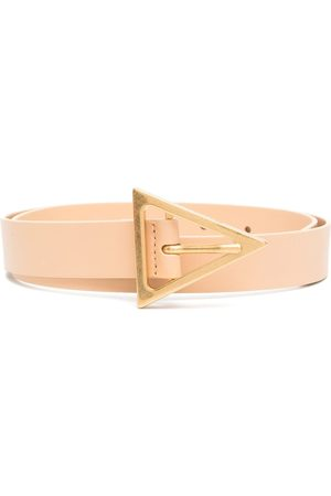 Bottega Veneta Triangular buckle belt - Neutrals