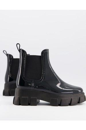 ASOS Giana chunky chelsea rain boots in