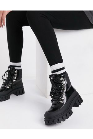 Koi Footwear Syndrome vegan chunky hiker boots in