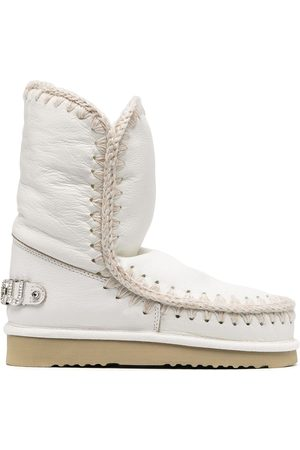 Mou Women Snow Boots - Embellished logo snow boots