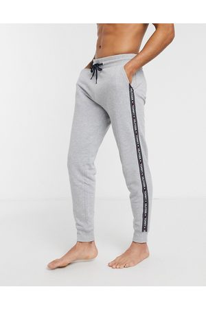 Tommy Hilfiger Authentic cuffed lounge sweatpants side logo taping in marl