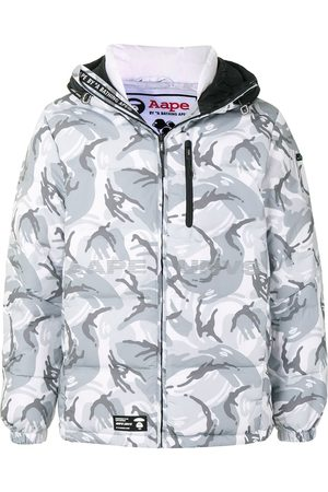 AAPE BY *A BATHING APE® Camouflage hooded padded jacket - Grey