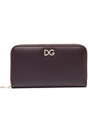 Dolce & Gabbana Crystal-embellished zipped wallet