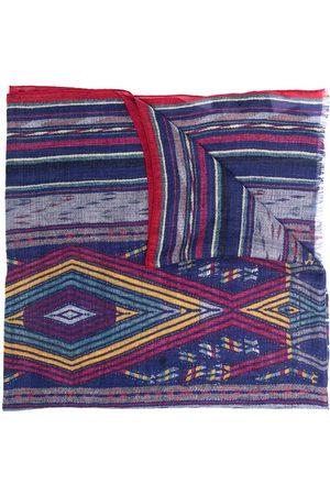 Etro Men Scarves - Geometric-print cashmere scarf