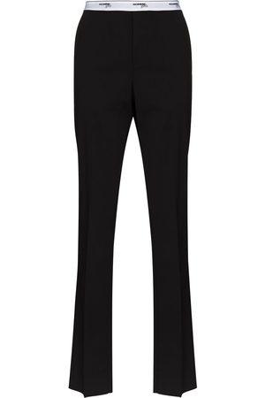 HommeGirls Logo-waistband tailored trousers