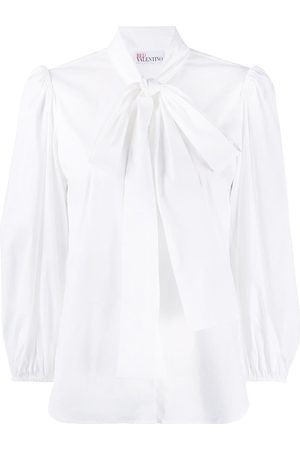 RED Valentino Pussy-bow puff-sleeve blouse