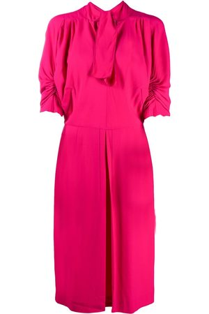 Marni Women Dresses - Ruched-sleeves tie-neck day dress