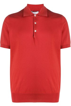 Brunello Cucinelli Men Polo Shirts - Short-sleeve knitted polo shirt