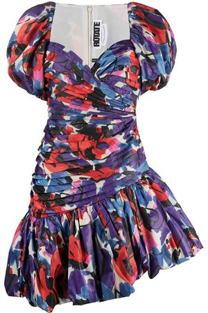 ROTATE Abstract-print puffy dress