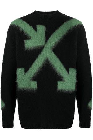 OFF-WHITE Men Sweatshirts - Arrows intarsia-knit jumper