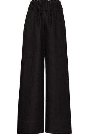 Bondi Born Women Wide Leg Pants - Linen wide-leg trousers