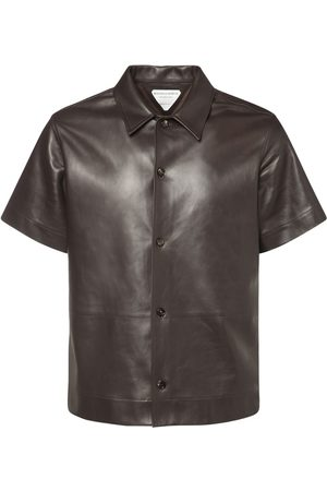 Bottega Veneta Leather Short Sleeve Shirt