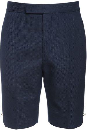 Thom Browne Hopsack Weave Wool Blend Shorts