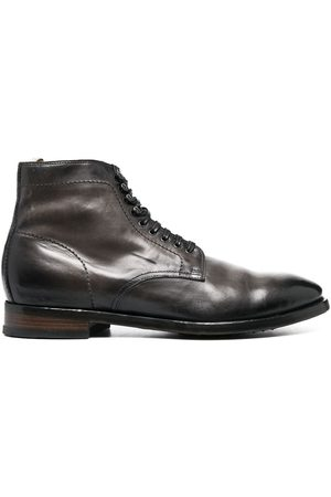 Officine creative Leather lace-up boots - Grey