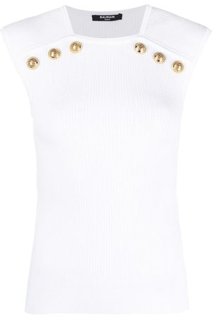 Balmain Button-detail tank top