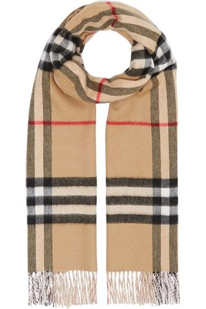 Burberry Reversible check cashmere scarf
