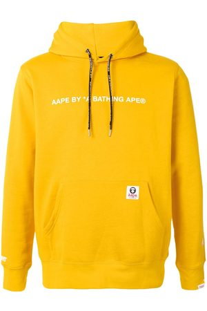 AAPE BY *A BATHING APE® Logo-print rib-trimmed hoodie