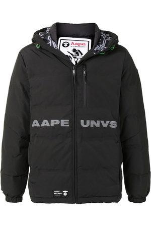 AAPE BY *A BATHING APE® Men Puffer Jackets - Logo print hooded padded jacket