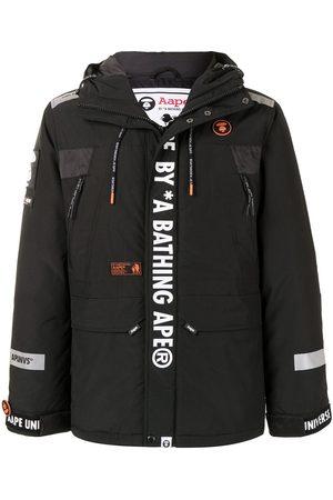 AAPE BY *A BATHING APE® Men Parkas - Logo print hooded parka coat