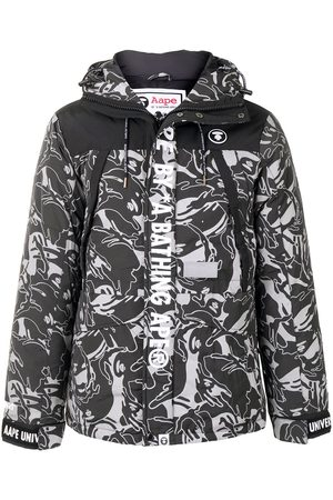 AAPE BY *A BATHING APE® Camouflage print hooded padded jacket - Grey