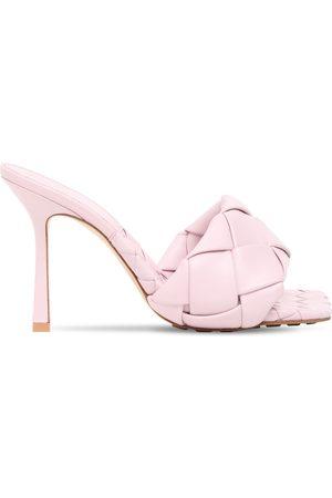 Bottega Veneta Women Sandals - 90mm Woven Leather Slide Sandals