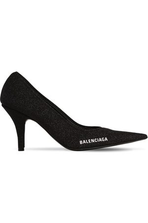 Balenciaga Women Heels - 80mm Metallic Knit Pumps