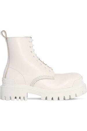 Balenciaga Women Boots - 60mm Strike Leather Combat Boots