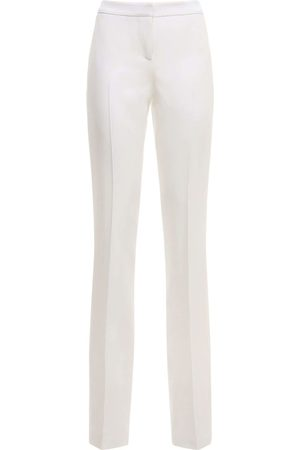 Alexander McQueen Women Skinny Pants - High Waist Wool Slim Pants