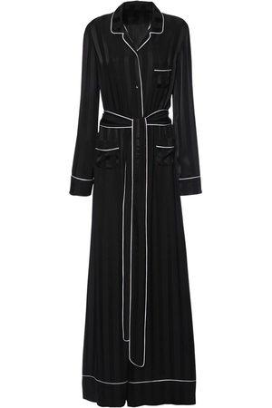 Dolce & Gabbana Women Jumpsuits - Jacquard Stripe Silk Satin Jumpsuit