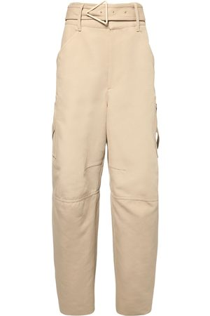 Bottega Veneta Belted Double Cotton Canvas Pants