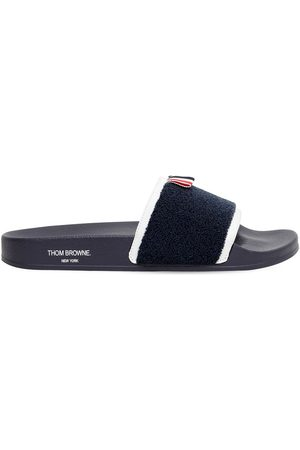 Thom Browne Terry Cloth Rubber Slide Sandals